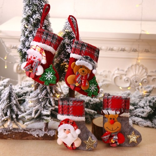 Christmas Doll Socks Gift Bag Christmas Tree Pendant Christmas Decoration  For Christmas Party Decorating