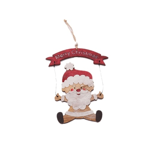 Christmas Wooden Pendant Door Hanging Santa