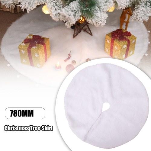 Weihnachtsbaum Rock weißer Plüsch