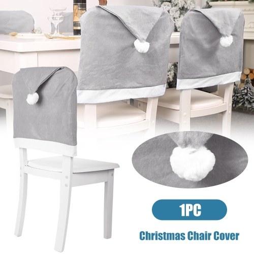 Copertura per sedia di Natale grigia