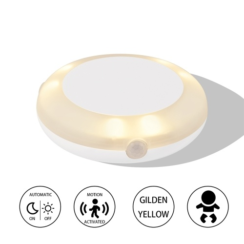 O diodo emissor de luz ativado movimento da luz da cama sob a luz da cama, desliga automaticamente a luz morna