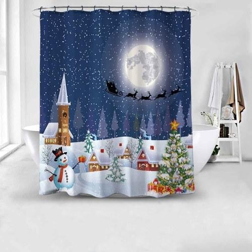 Duschvorhang Weihnachtsdekoration