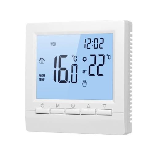 Smart Thermostat Digital Temperature Controller LCD Display Week Programmable Electric Floor Heating Thermostat for Home School Office Hotel 16A