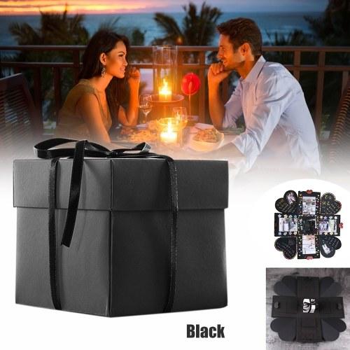 DIY Warm Surprise Love Explosion Box Scrapbook DIY Photo Album Favor Box for Anniversary Birthday Gift