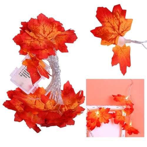 Maple Leaves Garland Led Holiday String Light Valentine Birthday Wedding Party Decoration Economic Light Fairy Lamp String