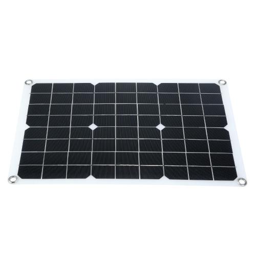 Panel solar de 50 W con interfaz USB Kits de cargador de batería para automóvil (para dispositivos de 50 W)