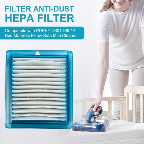 Filter Anti-Dust HEPA Filter Replacement Part Compatible with PUPPY D601 D601A Bed Mattress Pillow Sofa Mite Cleaner