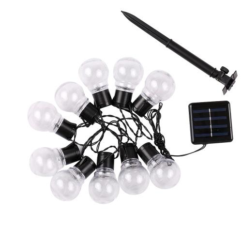 La secuencia al aire libre enciende los bulbos de la luz de la secuencia del patio del globo de los 2.5M 10pcs