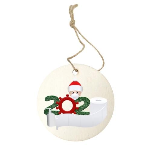 2020 nueva decoración de árbol de Navidad sobrevivió a la familia adorno colgante de Navidad decoración del hogar 4 piezas