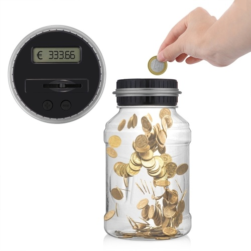 Multifunctional Money Box LCD Display Intelligent Electronic Digital Counting Coin Saving Box for USD