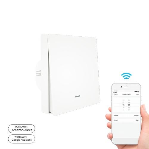 90-250V Wifi Smart Switch Interruptor de pared Control de voz Compatible con Alexa Google Assistant APP Función de cuenta regresiva del temporizador de control remoto