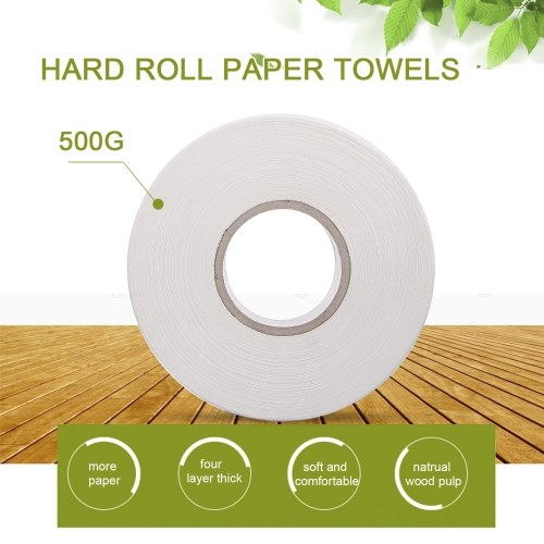 Toilettenpapierrolle Papier Weiß Indonesien Holzzellstoff 4Layer 1 Packung 500g Umweltfreundliches Recyclingpapier Heimgebrauch Soft Professional Series Premium 4-lagige Standardrollen für Business Home