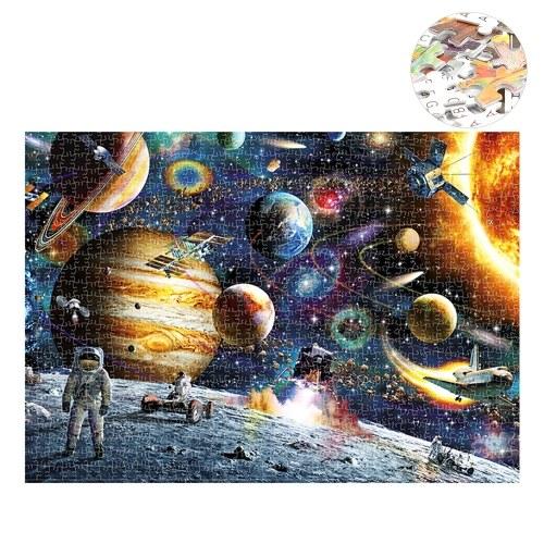 1000ピースパズルスペース観光図面大人のため子供教育ジグソーパズル家族ゲーム家の装飾