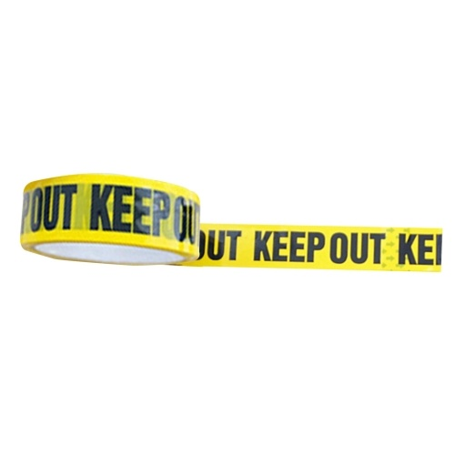 Yellow Tape Black Text Adesive Warning Slogan Words Tape