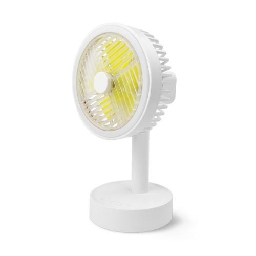 Mini Fan Automatic Rotation Three-speed Wind Adjustable Fan USB-Charging Air Fan with LEDs Light