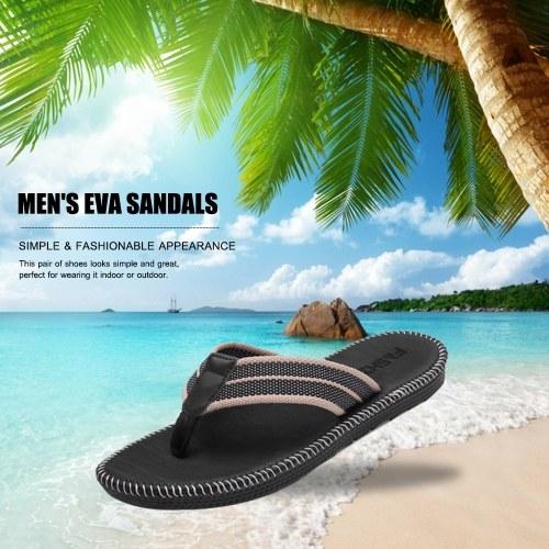 Мужские сандалии Туфли-шлепанцы противоскользящие Плоские туфли-шлепанцы EVA с удобной стелькой для наружного дома Пляж Пляж Море фото