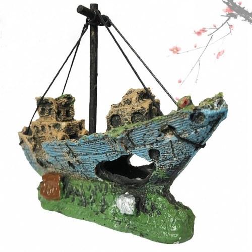 Aquarium Shipwreck Ornament