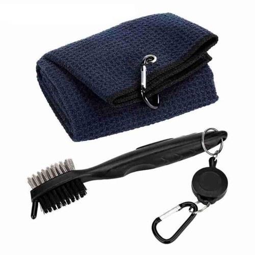 Toalla de golf de microfibra Kit de herramientas de cepillo de golf duradero