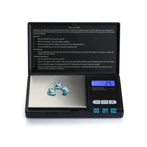 Báscula digital de bolsillo de 100 g para joyas