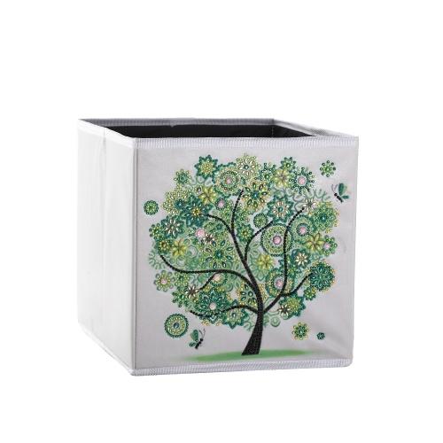 Caixa de armazenamento em forma de pintura de diamante faça você mesmo