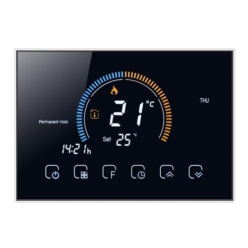 Termostato programable 95-240V 5 + 1 + 1 Pantalla táctil LCD de seis períodos