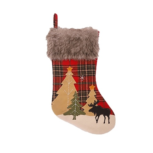 RED Christmas Stocking 18'' 3D Christmas socks