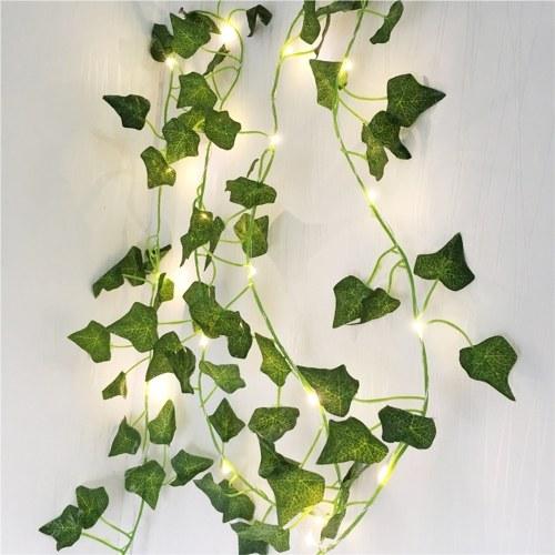 Green Leaf Rattan Artificial Ivy Garland Fake Leaf Plants