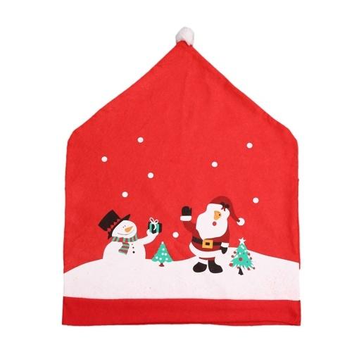 Housses de chaise de Noël Housses de dossier de chaise de père Noël