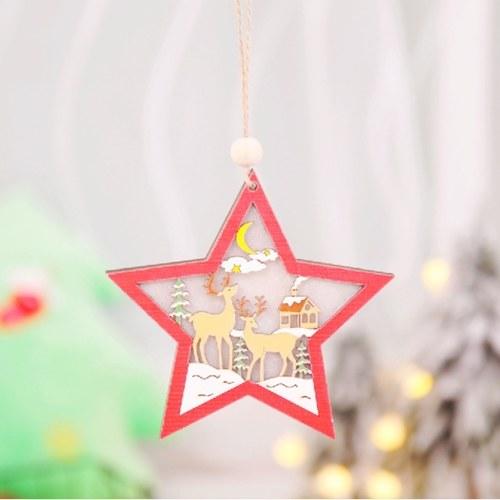 Decoração de suspensão de árvore de natal LED