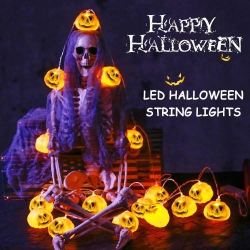 30LEDs 10.33 Feet LED Halloween String Lights 3D Jack-O-Lantern Pumpkin Lights