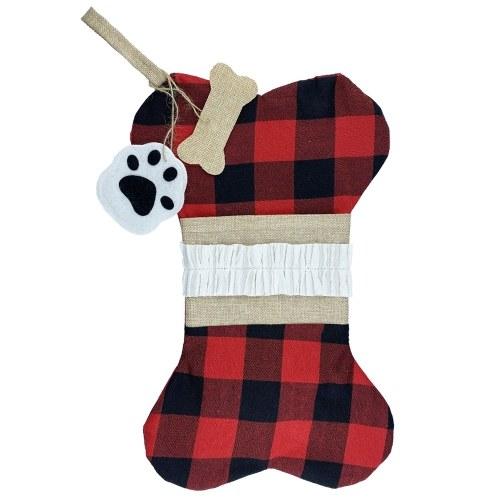 Calcetín de Navidad 1pcs 16 '' Calcetín de hueso de Navidad grande