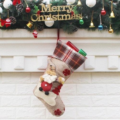 Sacchetto regalo di calze natalizie creative di nuovo stile natalizio