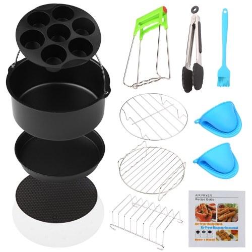 13 piezas accesorios para parrilla de barbacoa conjunto de herramientas de freidora herramientas de parrilla de acero inoxidable