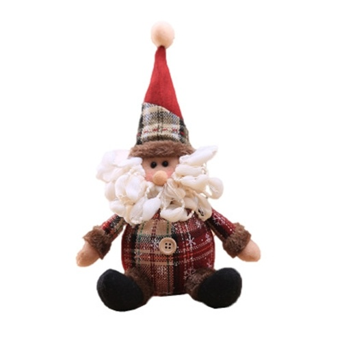 Christmas Plush Dolls Christmas Snowman Santa Plush Toy