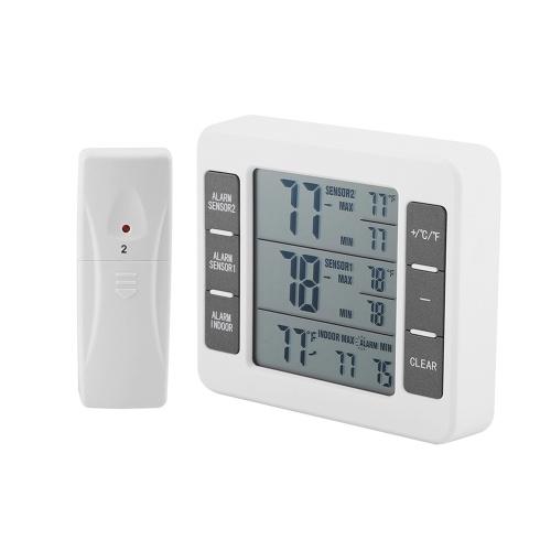 Termometro da frigorifero digitale senza fili Allarme acustico Termometro da esterno per interni