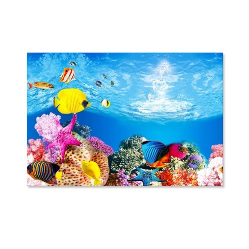 Aquarium Background Poster Decoration Aquarium Landscape Sticker Poster Fish Tank 3D Background Painting Sticker
