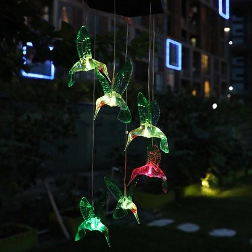 Luces solares LED Colgante de jardín Luces coloridas Colgante Forma de mariposa Pájaro Lámpara LED Camino Pasarela Césped Patio Iluminación del patio trasero