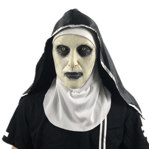 Halloween effrayant nonne masque Costume fête Cosplay blague Latex tête masque