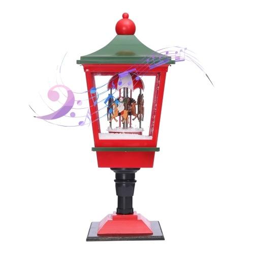 Christmas Musical Snow Lantern Plug in LEDs Fairy Lights Lamp