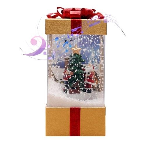Weihnachten Musical Schneelaterne USB-Stecker & Batteriebetriebene LEDs Lichterketten Lampe