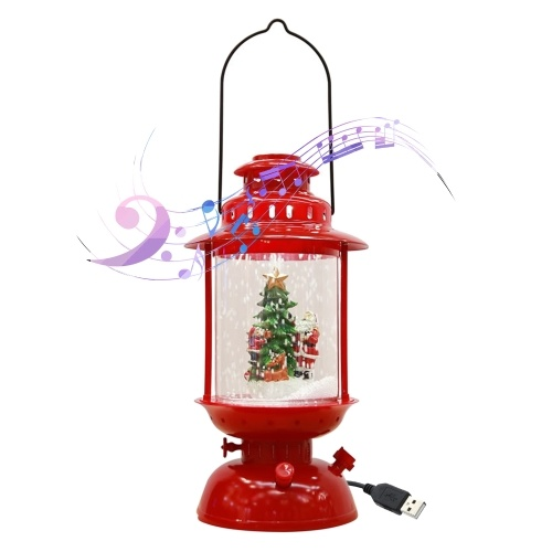 Christmas Musical Snow Lantern USB & Plug in LEDs Fairy Lights Lamp