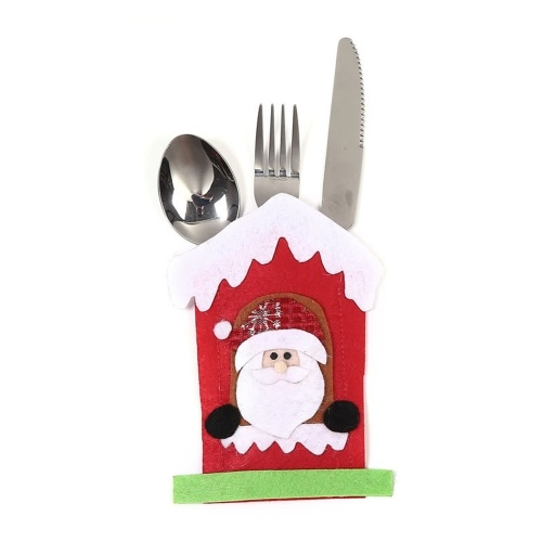 ミニクリスマスカトラリー食器ホルダーミニサンタ銀器ホルダーキャンディカバー
