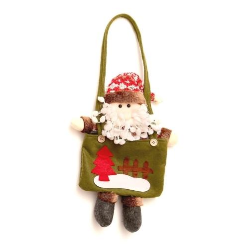 Tote bag di caramelle natalizie Borse di tote riutilizzabili modello Babbo Natale pupazzo di neve di Natale