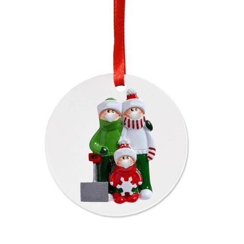 Muñecas de Navidad Adorno lindo del árbol de Navidad