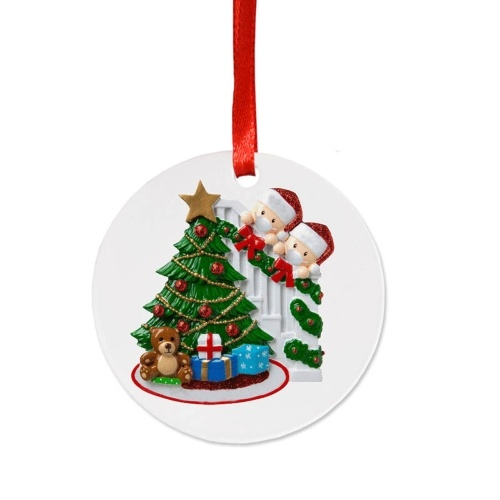 Bonecos de Natal com enfeites de árvore de natal