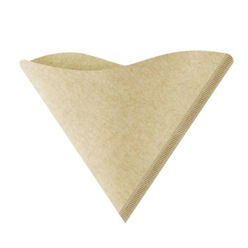 100pcs/set V-Shape Drip Paper Wooden Organic Coffee Powder Filter Paper