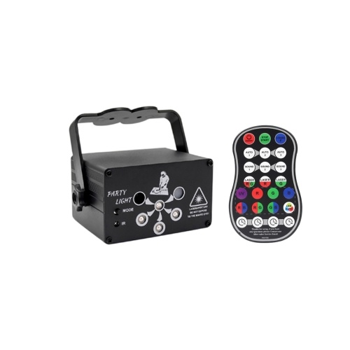 Disco Light Portable 6 Lens LED Stage Projector Sound Activated DJ Disco Lights