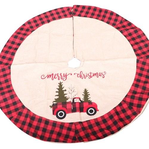 Árvore de Natal com saia de árvore de natal e enfeites de 42 polegadas / 106 cm (carro)