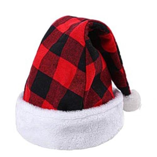Cappello di Natale Plaid Cappello da Babbo Natale