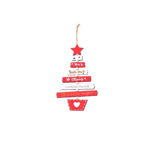 Wooden Christmas Ornaments Xmas Tree Hanging Tags Pendant Embellishments Crafts Decor Style 1